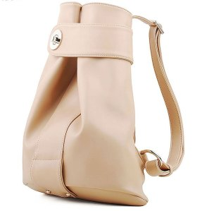 2012-Hot-Item-Gathered-and-Cinched-Front-Detail-Women-Bucket-Backpack-Magnetic-Snap-Closure-Metal-Lock